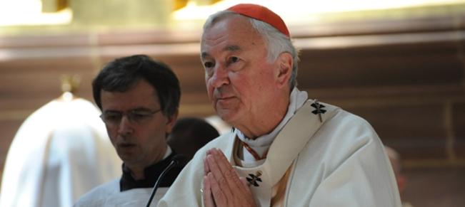 Roman Catholic Cardinal Vincent Nichols denies covering up actions of sex abuse claim priest